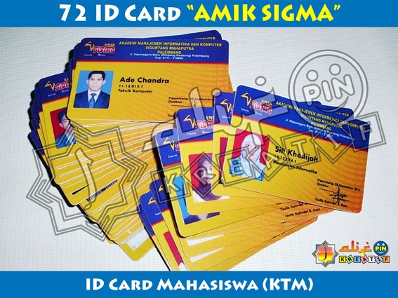 Project JoeSastro - ID Card AMIK SIGMA New