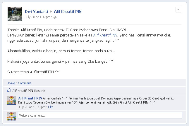 Testimoni - Dwi Yuniarti (Jul 2012)